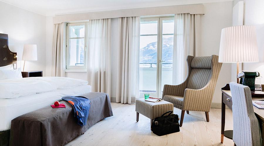 Doppelzimmer Deluxe mit Balkon im Romantik Hotel Schloss Pichlarn © Richard Schabetsberger
